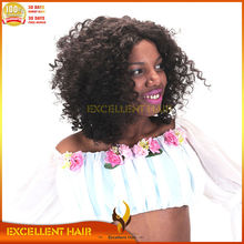 Afros kinky curl Synthetic lace front wig for black women