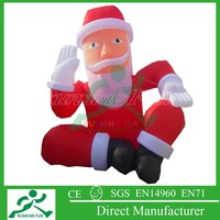 2015 funny inflatable western christmas decorations sitting santa