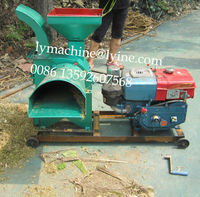 Green and dry corn stalk crusher machine
