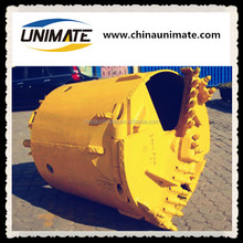 UNIMATE High strength Earth foundation piling, Roller cone cutters/plam bits drilling bucket core barrel for piling industry