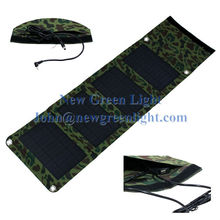 NGL Solar Charger 14W 12V Monocrystalline Intelligent Controller USB Chainable Green Water-resistant Solar Panel NGL-101401204