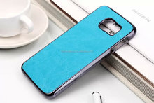 Combine leather metal phone case leather back cover cell phone case for S6