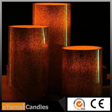 Brand new melted top edge candle flameless led candle wedding decoration flameless candle