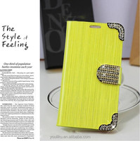 Generous pu leather filp protective case cover holder stand mobile phone cases for iphone 4 4s 5 up-down design