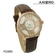 valentine italian brand name genuine leather ladies fancy wrist watches