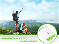 18650 batteries extra power bank USB charger portable mobile power