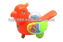 Plastic Toy Animal Bird with Light, Pull String Power STP-235887