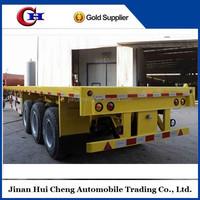 Copmpetitive price flatbed semi-trailer 40ft flatbed trailer dolly semi trailer
