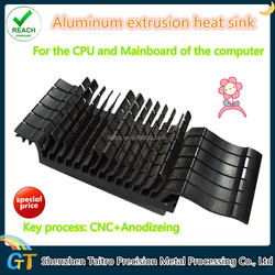 high quality heat sink, Aluminum extrusion for the CPU of the computer