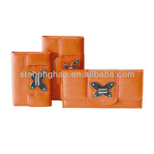 Orange flap butterfly false lock hardware fittings high quality and inexpensive Wallet
