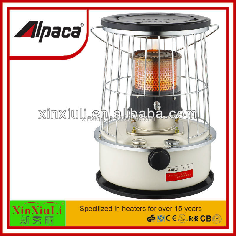 Alpaca Kerosene Heater With Glass Chimney Triple Tank