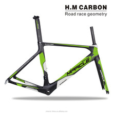 Hot Selling Road Bicycle Frameset Miracle Olive Green Painted Carbon Frame+Fork+Seatpost+Clamp Bike Frameset 50.5/53.5/56.5cm