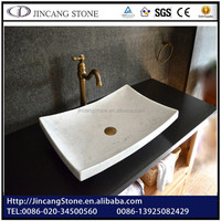 Retangular bathroom white color toilet sink
