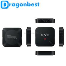Quad Core 2G 8G Android Tv Box Mxiii Almogic S802 Android 4.4.2 Mx3 Smart Tv Box With Xbmc/Kodi Kodi Pre-Installed