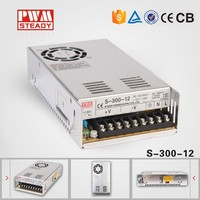 meanwell sstyle & manufacturer smps transformer 220v to 12V,12V 25A 300W switching power supply&led power supply