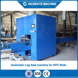 Equipped with double channels HC-LS Automatic log saw machien for cutting toliet rolls