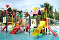 Rainbow Children plastic playhouse and slide