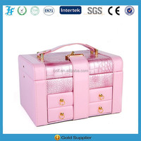 Hot Sale European Style Pink Leather Jewelry Box