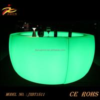 Glowing round LED Bar counter/ Light up LED bar table/illuminated Led Bar Table