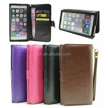 5.5 inch Universal Smart Phone Touch Screen Wallet PU Leather Case