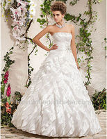 white lace beaded strapless ball gown wedding dresses for mature women