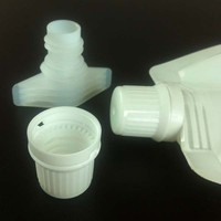 Plastic spout and cap for doypack/stand up pouch packing