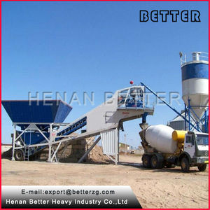 yhzs25 móvil concreto premezclado seco de la planta de proceso por lotes