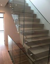Frameless glass railing 316 grade stainless steel glass adapter for exterior porch