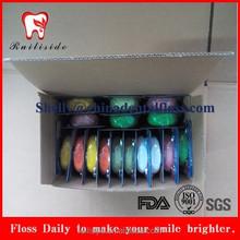 50m nylon travel/home waxed mint dental floss/flosser