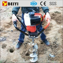 Tree planting manual electric tractor hole digger