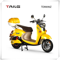 chinese tailg 800w steel yellow scooter electric moped motorcycle with pedals
