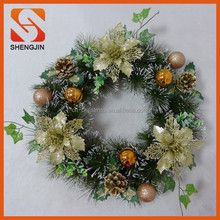 SJ-6450 Flower ball wreath Front door ornament Christmas decoration garland 2015
