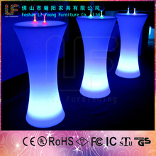 Hot sale illuminated multicolor LED bar table used in bar and in outdoor
