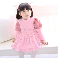kids princess dresses flower girl dress pink winter dress for girl with fur 80116