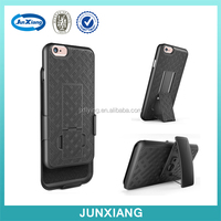 Hard Black Swivel Belt Clip Shell Holster Combo Case + Stand Case for Iphone 6S