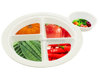customized plastic plate, BPA FREE dinner plate, cheap food plate