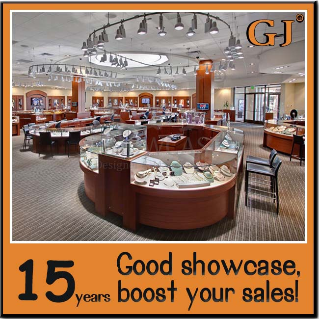 Top sale jewelry store furniture with good price buy for A good jewelry store