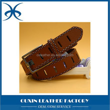 leather belt made by factory 100% cowhide genuine leather belts for men classic pin buckle belts strap