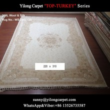 white and ivory modern 220x310cm hadnknotted wool pure silk chinese carpet