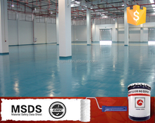 Anti-wear floor paint two-compound self leveling industrial epoxy resin flooring