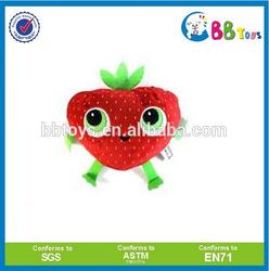 EN71,ASTM standard factory wholesale fruit stuffed strawberry plush toy