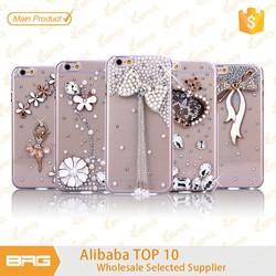 BRG Alibaba Wholesale handmade bling Diamond Case for iPhone 6