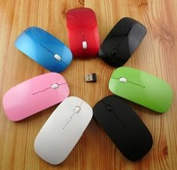 Nice pink wireless slim Mini computer mouse 2400DPI air mouse for laptop and desktop