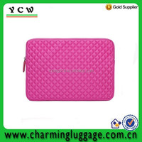 Hot pink Diamond Foam Splash & Shock Resistant wholesale custom printed neoprene laptop sleeve