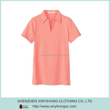 Fashion Bamboo Fiber pure color without button Ladies Polo Shirts Golf Clothing