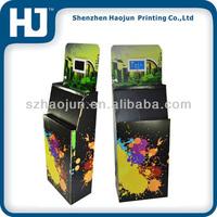 Custom full color printing retail store cardboard magazine/newspaper/ book dump bin display