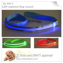 China factory wholesale waterproof L.E.D. Lighted Dog Leash