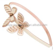 Skinny crystal and rhinestone glitter butterfly headband
