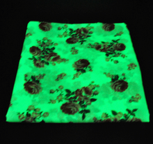 glow in the dark quilted leather fabric