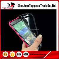 2 in 1 Hybrid Phone Case for HTC M8 with front screen protector film